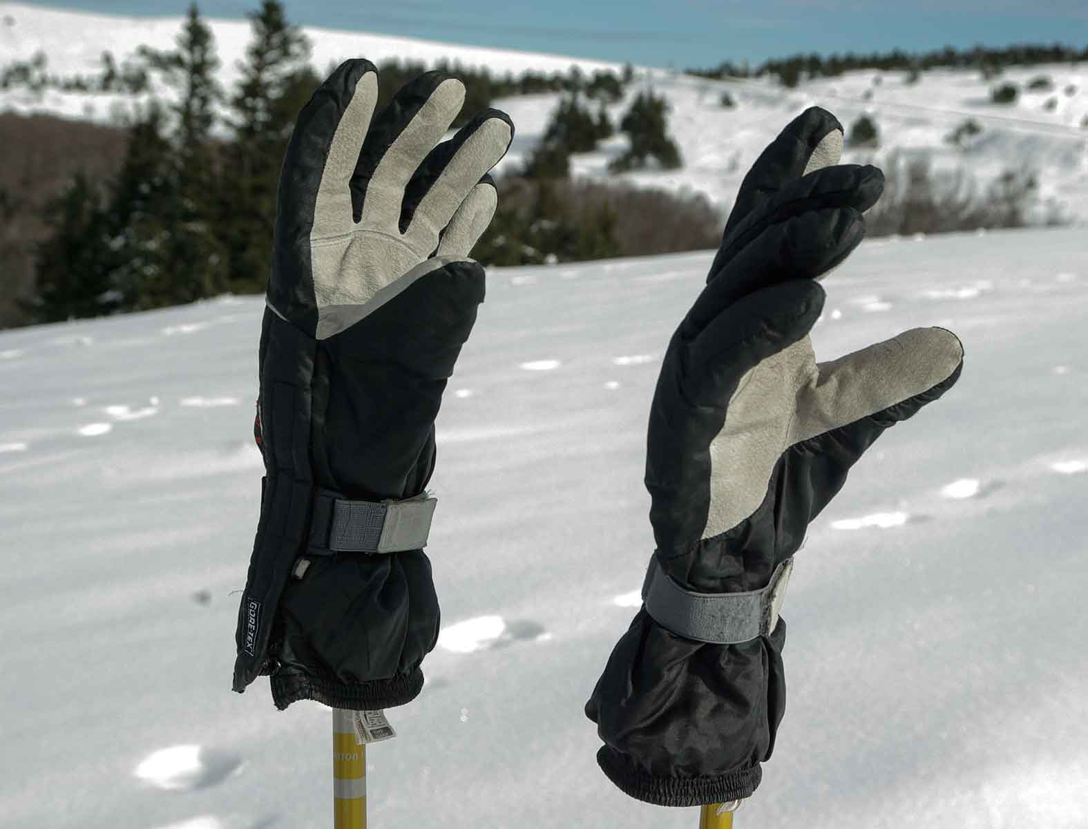 A pair of waterproof gloves