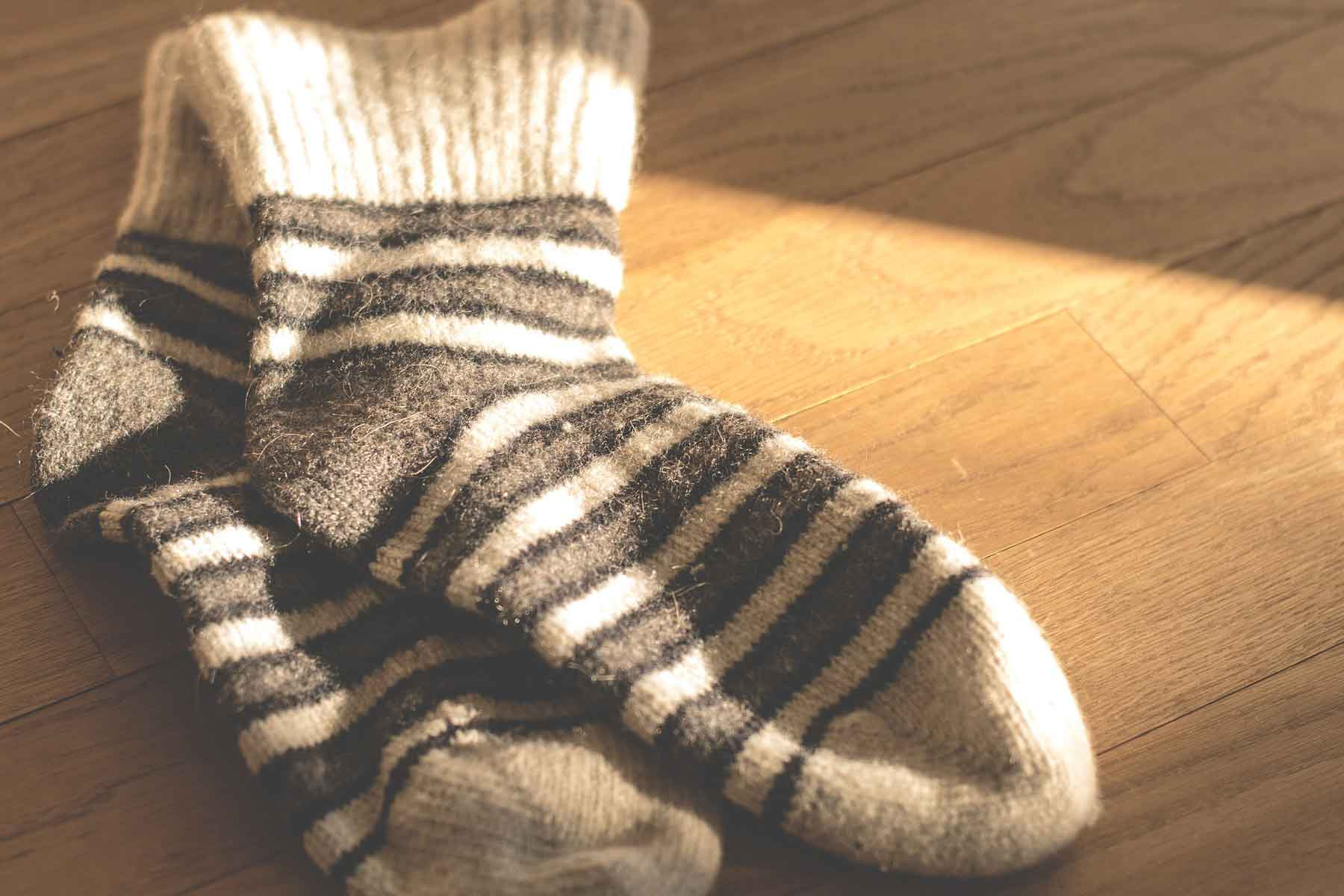 Five pairs of wool hiking socks