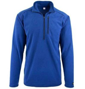 Men's blue fleece top