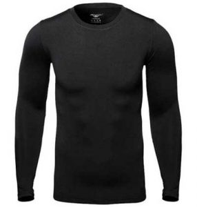 Men's black base layer top