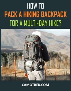 Packing multi day hike PIN