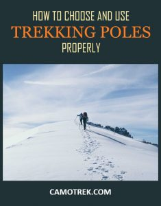 How to choose and use trekking poles properly PIN