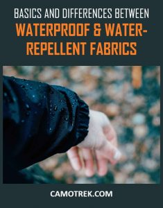 Waterproof vs water-repellent fabrics