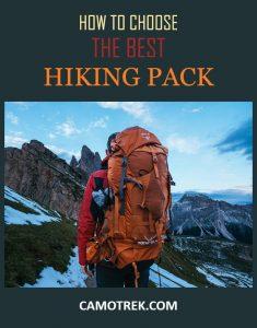Choosing hiking backpack PIN