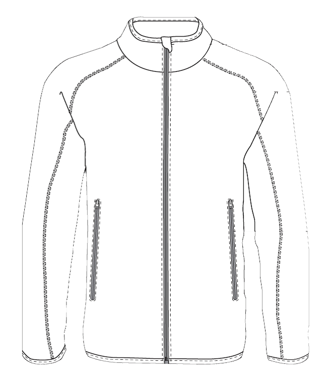 Fleece jacket basic design