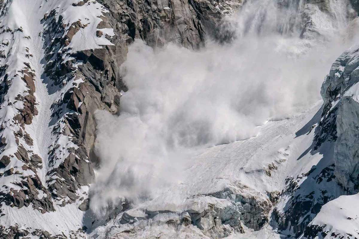 Mountain avalanche