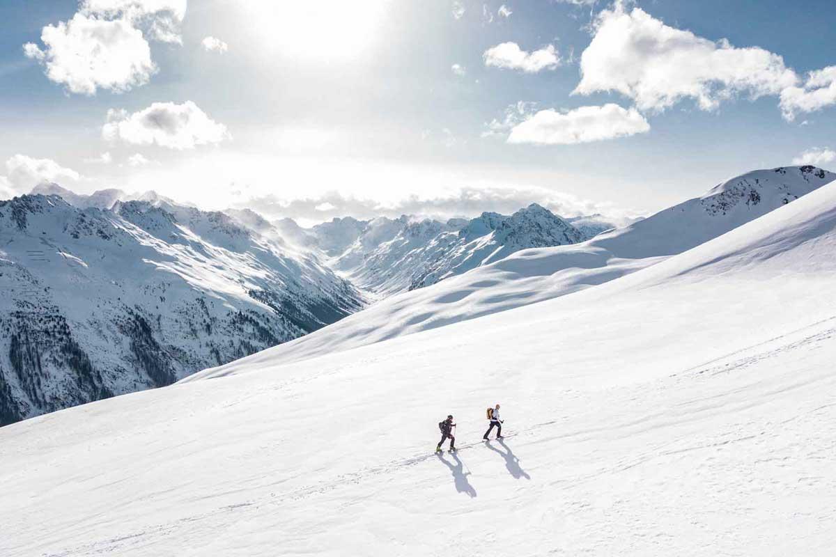 Two persons alpine climb