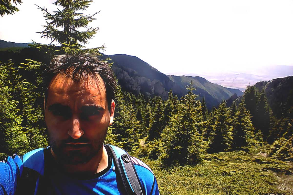 Valentin in the mountains