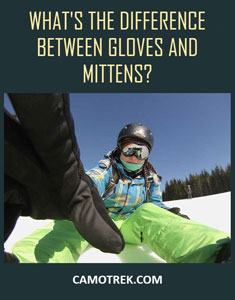 What's the difference between gloves and mittens Pin