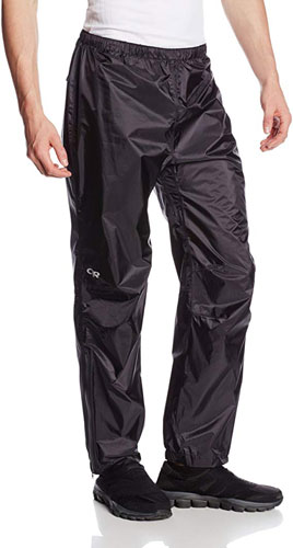 Outdoor Research Helium Pants are preferred for backpacking in the rain