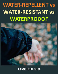 Waterproof vs water-repellent vs water-resistant fabrics