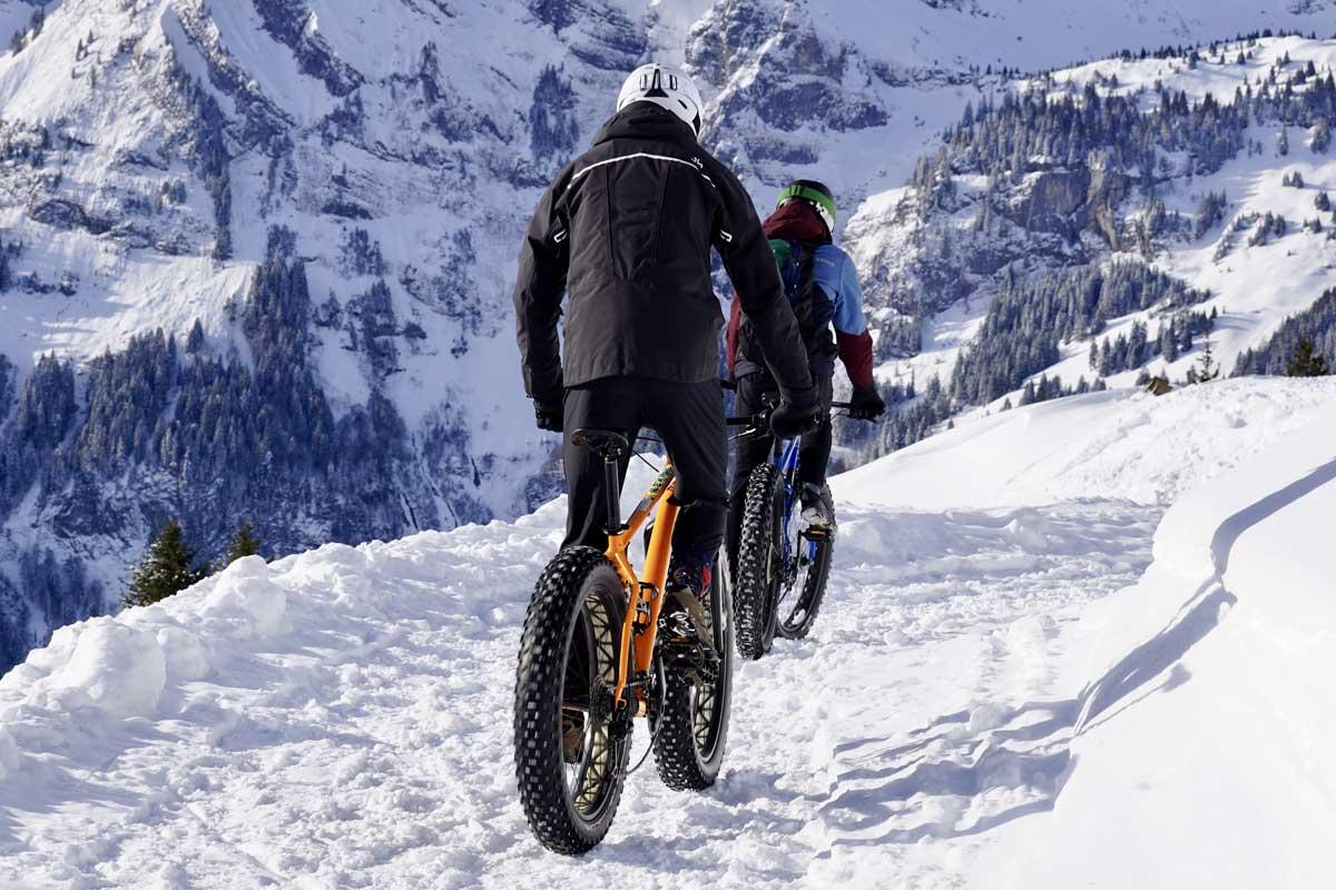 Snow bikers