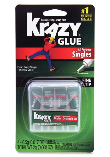 Backpacking repair kit - Krazy super glue