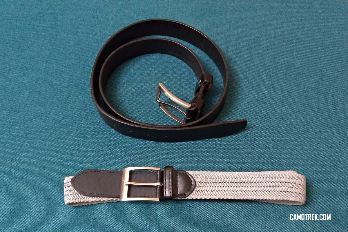 Two hiking belts