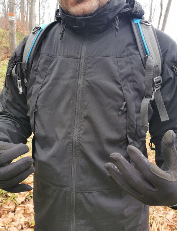 Helikon Blizzard jacket zippered pockets