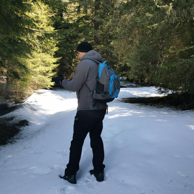 Panthiras Jacket snowy forest