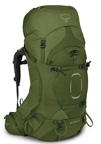 Osprey Aether 65 - best all-around backpack